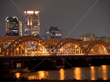 Osaka river at dusk on Shutterstock.com