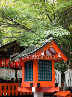 Arashiyama shrine lantern on Shutterstock.com