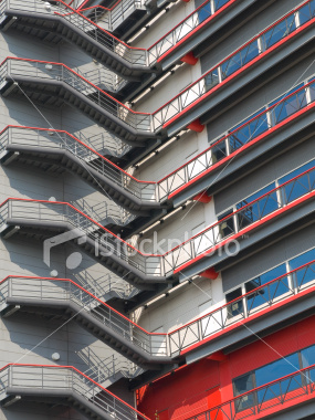 Stairs on side of building on Shutterstock.com