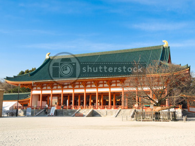 Heian Jingu Shrine, Kyoto Japan on Shutterstock.com